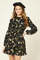 Forever 21 FOREVER 21+ Floral Print Mock Neck Dress