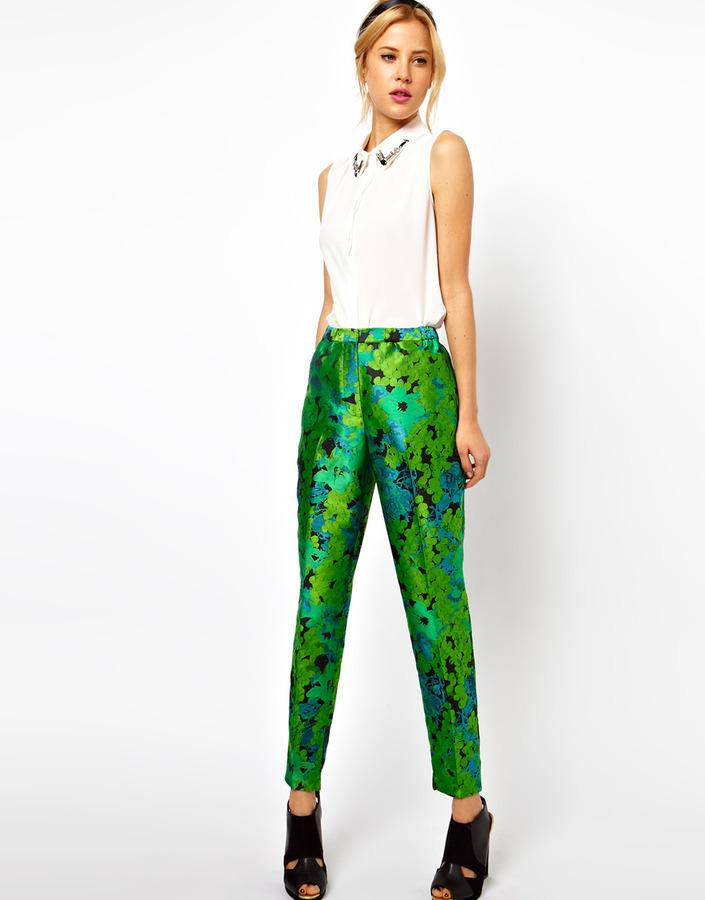 Asos Pants In Floral Jacquard