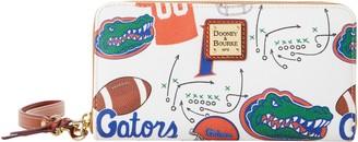 Dooney & Bourke NCAA Florida Large Zip Around Wristlet