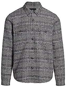 7 For All Mankind Men's Double Face Plaid Shirt Jacket