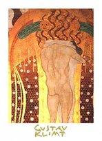 Gustav 1art1 Posters Klimt Poster Art Print - Diesen Kuss Der Ganzen Welt (32 x 24 inches)