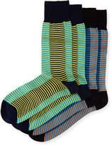 Punto Two-Pair Striped Socks