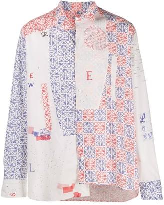 Loewe Anagram asymmetric shirt