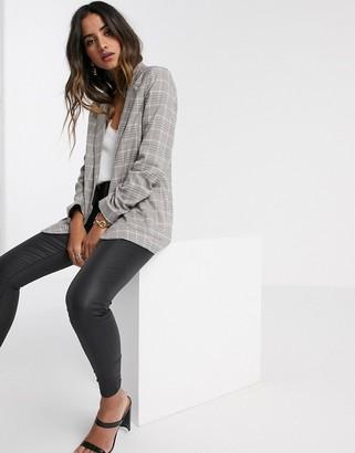 Vila tailored blazer in grey check
