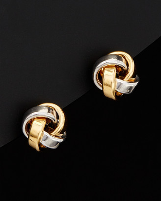 Italian Gold 14K Two-Tone Love Knot Studs