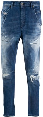 Diesel Fayza low-rise tapered jeans