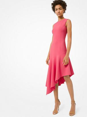 Michael Kors Double-Face Stretch Wool-Crepe Asymmetric Dress