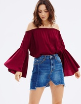 Living Doll Magnolia Cold Shoulder Top