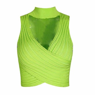 Ty.Olk Halter Bandage Sexy Crop Top Women Elegant Tank Tops Streetwear Party Club Tee Shirt