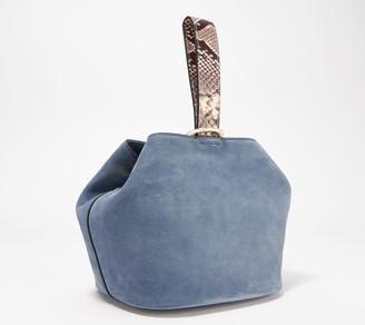 THACKER Suede Crossbody Bucket Bag - Loren