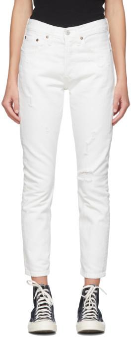 Levi's Levis White 501 Skinny Jeans