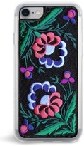 Zero Gravity Belle Embroidered Iphone 7 & 7 Plus Case - Black