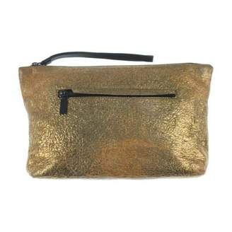 Alexander McQueen Gold Leather Clutch bags