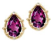 Tommaso design Studio Tommaso Design Pear Shape 10x7mm Genuine Rhodolite and Diamond Earrings 14k