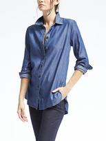 Banana Republic Parker-Fit Chambray Boyfriend Tunic