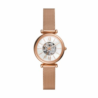 Fossil Women's Carlie Mini Automatic Watch with Stainless Steel Strap