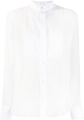 Sacai Stripe Print Sheer Shirt
