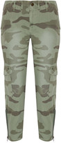 Current/Elliott The Utilitarian Camouflage-print Cotton-canvas Tapered Pants - Army green