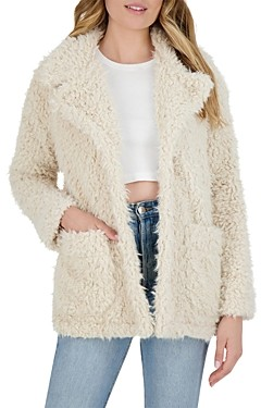 BB Dakota Warming Signs Faux Shearling Jacket