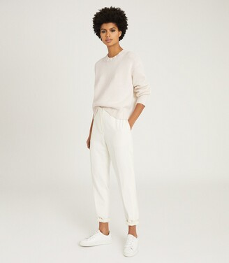 Reiss Cady - Open-back Jumper in Cream