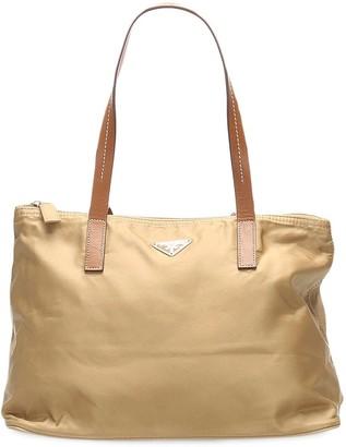 Prada Pre-Owned Logo-Plaque Tote Bag