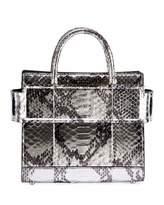 Givenchy Horizon Mini Laminated Python Satchel Bag