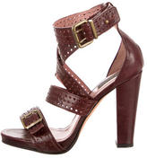 Derek Lam Leather Perforated Sandals