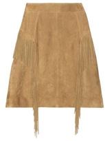 Saint Laurent Fringed Suede Miniskirt