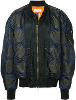 Facetasm zipped bomber jacket