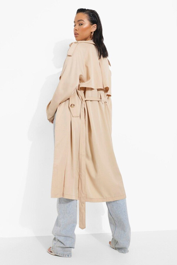 Thumbnail for your product : boohoo Double Breasted Trench Coat