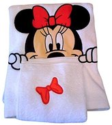 Disney Park Minnie Mouse Bath Towel Wash Cloth Set