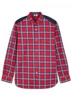 Junya Watanabe Red Checked Cotton Shirt