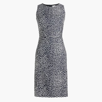 J.Crew Basketweave leopard sheath dress