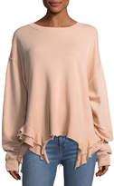 Current/Elliott The Slouchy Ruffle Cotton Sweatshirt