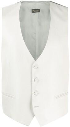 Dell'oglio V-neck silk waistcoat
