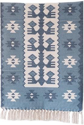 Goodnight Macaroon 'Shivani' Aztec Print Bohemian Fringed Rug (5 Colors)