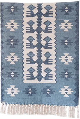 Goodnight Macaroon 'Shivani' Aztec Print Bohemian Fringed Rug (5 Colors)