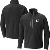Columbia Unbranded Men's Black Minnesota United FC Fast Trek Fleece Raglan Half-Zip Pullover Jacket