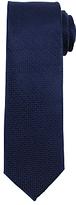 John Lewis Satin Parquet Plain Silk Tie, Navy