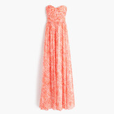 J.Crew Marbella long dress in watercolor silk chiffon