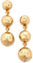 Charter Club Erwin Pearl Atelier for Gold-Tone Molten Metal Triple Drop Earrings, Only at Macy's