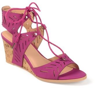 Brinley Co. Womens Ghillie Laser-cut Sandal Wedges