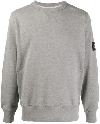Calvin Klein Jeans Logo-Patch Crew Neck Sweatshirt