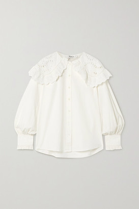 Sea Marina Broderie Anglaise Cotton-poplin Blouse - White