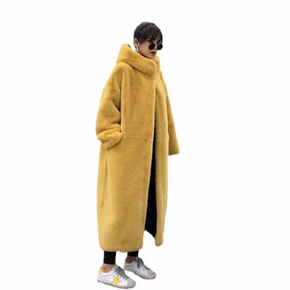 Nkjgfv Faux Mink Velvet Parkas Luxury Faux Fur Coats Women Winter Thick Loose Warm Outwear