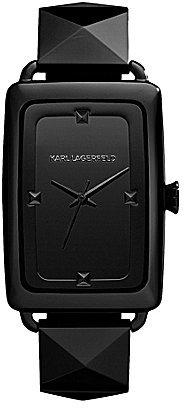 Karl Lagerfeld Black Pyramid Bracelet Watch