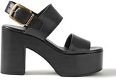 Thumbnail for your product : Dries Van Noten Leather Platform Sandals