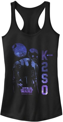 Star Wars Juniors' Rogue One K-2SO Galaxy Print Tank Top