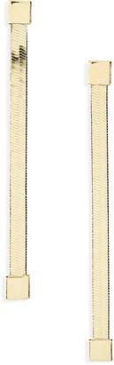 Argentovivo Linear Herringbone Earrings