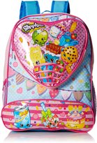 Shopkins Girls' 16 Inch Backpack Heart Shaped Pocket